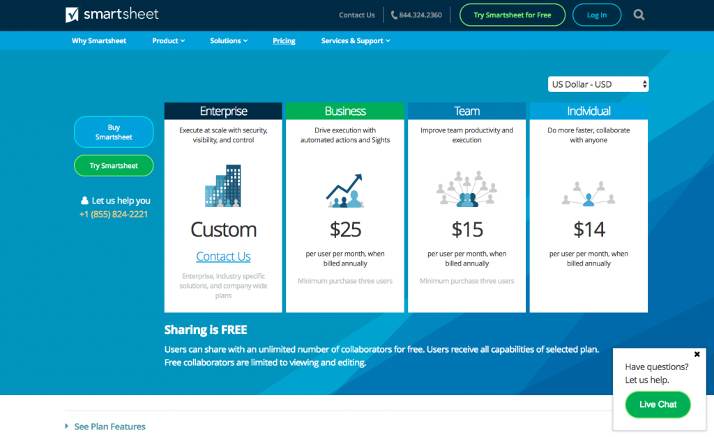 smartsheet pricing page - My Tech Reviews