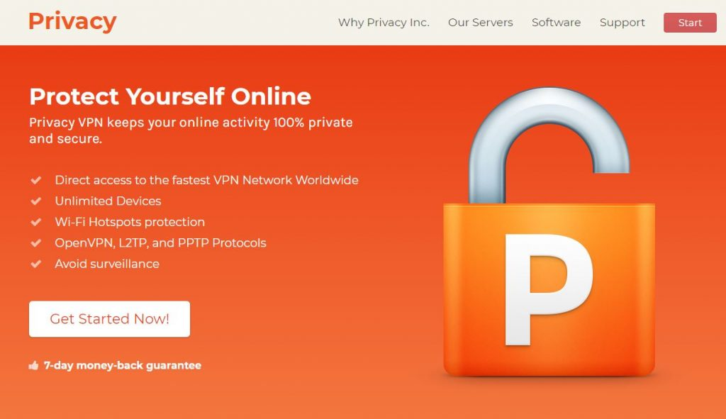 Privacy Inc Homepage